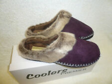 LADIES MULES  SLIPPERS PLUM SLIP ON SIZE 4-8UK LIGHT WEIGHT BY COOLERS GIFT IDEA