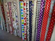 PVC VINYL OILCLOTH   MATERIAL FOR TABLES APRONS CRAFTS ECT OVER 30 DESIGNS