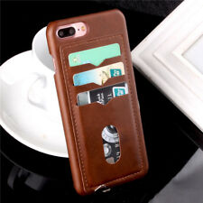 Luxury PU Leather Case Card Holder Back Skin Cover For Apple iPhone 8 6S 7 Plus