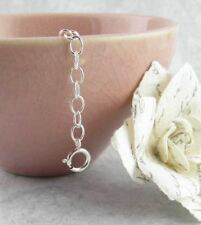 Extender Chains in Unplated Sterling Silver