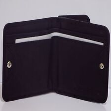 MEN'S GENUINE LEATHER BI-FOLD WITH SNAP BUTTON ENCLOSURE