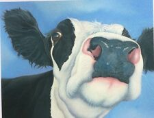 friesian cow painting fine art giclee print picture