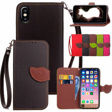Retro Premium Leather Wallet Stand Card Slot Protect Case Cover For iPhone X 8 7