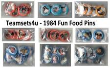 1984 Fun Food Pins Baseball Set ** Pick Your Team **