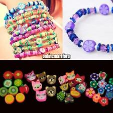 100 PCS Clay Beads DIY Slices Mixed Color Fimo Polymer Clay ONMF 01