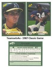 1987 Classic Game (Green) Baseball Set ** Pick Your Team **