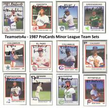 1987 ProCards Minor League Baseball Team Sets ** Pick Your Team Set **
