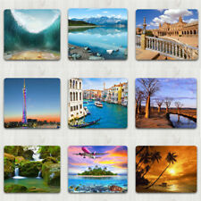 Natural Scenery Patterns Anti-slip Gaming Mouse Pad Waterproof Mat Mousepad
