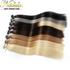 """50g 100S Pre Bonded Stick I Tip Straight Remy Real Human Hair Extensions 18""""-24"""""""