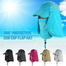 360° Protection Sun Cap Baseball Cap With Removable Neck Face Flap Cover N0R7