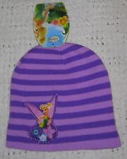 NWT Girls DISNEY TINKERBELL Purple Beanie Hat - One Size Fits Most 8-20