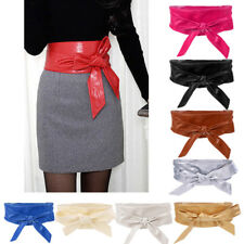 1x Ladies Lace Up Tie Up High Waist Waistband Wide Faux Leather Corset Belt