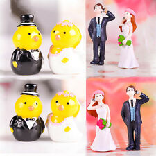 Cute Miniature Fairy Garden Dollhouse Wedding Couples Figurine Bonsai Decor