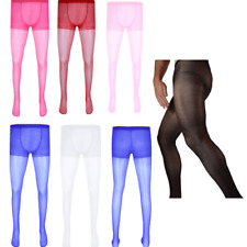Sexy Mens Stretchy Full Length Sheer Sheath Pantyhose Lingerie Tights Stockings