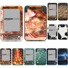 For Amazon Kindle 3 Sticker Cover Charming Patterns Skin Decal