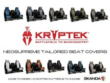 Coverking Kryptek Neosupreme Seat Covers with Black Sides for Toyota Tacoma