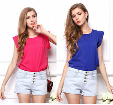 Women's Sleeveless Vest Shirt Top Blouse Ladies Summer Loose Casual Chiffon w83