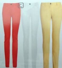 New Next Petite/Regular/Long Skinny Leg Sateen Off White or Coral  Trousers