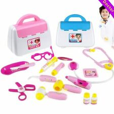 Pretended Doctor's Nurse Medical Carry Case Medical Role Play Set Kids Girl Toy