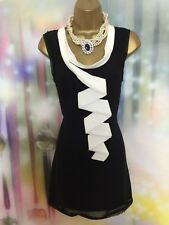 Ted Baker black/white  evening occasion mini dress size 3 UK 12 wedding/xmas