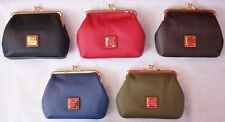 Dooney & Bourke, Large Frame Coin Purses, Style #'s ZR407 BL, RD, CK, & OL