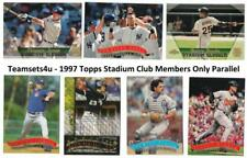 1997 Topps Stadium Club Members Only Parallel Team Sets ** Pick Your Team Set **