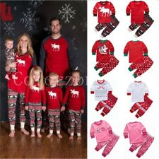 Family Matching Christmas Pajamas Boys Girls Toddler Sleepwear Set Costume Suits