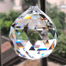 Feng Shui Hanging Crystal Ball Sphere Prism Sun Catcher Clear Pendant 20-50mmLot