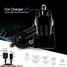 Car Charger real 3.1A 12V iPhone Samsung iPad & iPhone cable USB C Cable Micro