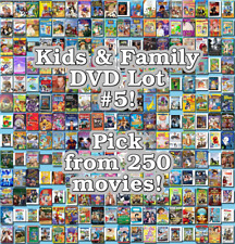 Kids & Family DVD Lot #5: 250 Movies to Pick From! Buy Multiple And Save!