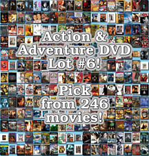 Action & Adventure DVD Lot #6: 246 Movies to Pick From! Buy Multiple And Save!