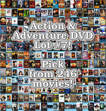 Action & Adventure DVD Lot #7: 246 Movies to Pick From! Buy Multiple And Save!