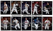 2001 Donruss Signatures Baseball Set ** Pick Your Team **