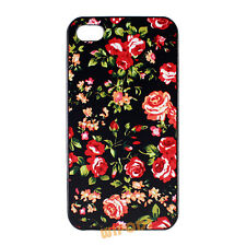 Red Rose Floral Pattern Flower Hard Case Cover Skin for Apple iPhone 4 4S 5 5S