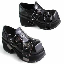 Goth Boots Punk Boots New Grunge Rock Emo Cyber Anime Cosplay Cleated Platform.