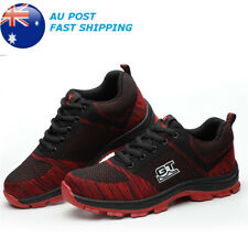 Mens Fashion Safety Shoes Steel Toe Breathable Work Boots Hiking Climbing Shoes