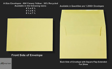 A2▪A6▪A7 60# Premium Canary / Yellow Announcement Envelopes - Various Quantities