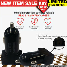 Dual Usb Car Charger 3.1A 12V Car Socket Adapter for Samsung S4 S5 S6 S7 HTC LG