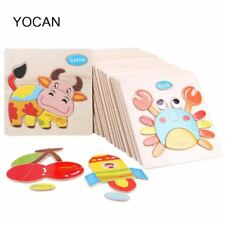 3D Puzzle Jigsaw Wooden Toy For Children with Cartoon Animals