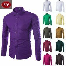 Fashion Mens Luxury Casual Stylish Slim Fit Long Sleeve Casual Dress Shirts sa43