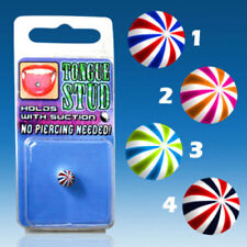Tongue Piercing Fake Beach Ball Shock without Hole Beachball Color Selection