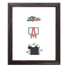 """US ART Frames .75"""" Thin SATIN CHERRY Solid Wood Picture Frame, Lot Sizes"""