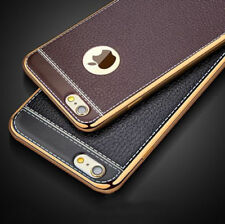 F iPhone X 8 7 6 Plus Luxury Slim Ultra-thin PU Leather Back Case Soft TPU Cover
