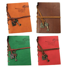 5X(SR Classic Retro Leather Bound Blank Pages Journal Diary Notepad Notebook Cof