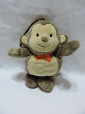 "Monkey Musical Crib Pull Plush Toy Brahms Lullaby 10"" Ape Brown Child Of Mine"