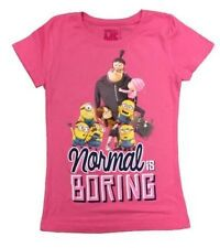 DESPICABLE ME NORMAL IS BORING GIRLS T SHIRT SM MED LG XL