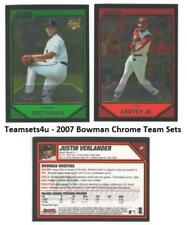 2007 Bowman Chrome Baseball Set ** Pick Your Team **