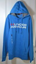 NWT MEN'S UNDER ARMOUR COLDGEAR BLUE LOOSE FIT FLEECE HOODIE JACKET SZ L XL