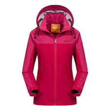 New Women's Mesh Lined Outdoor Jacket Hiking Camping Outwear Rain Coat Hooded