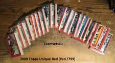 2009 Topps Unique Red (#ed/799) Football Set ** Pick Your Team **